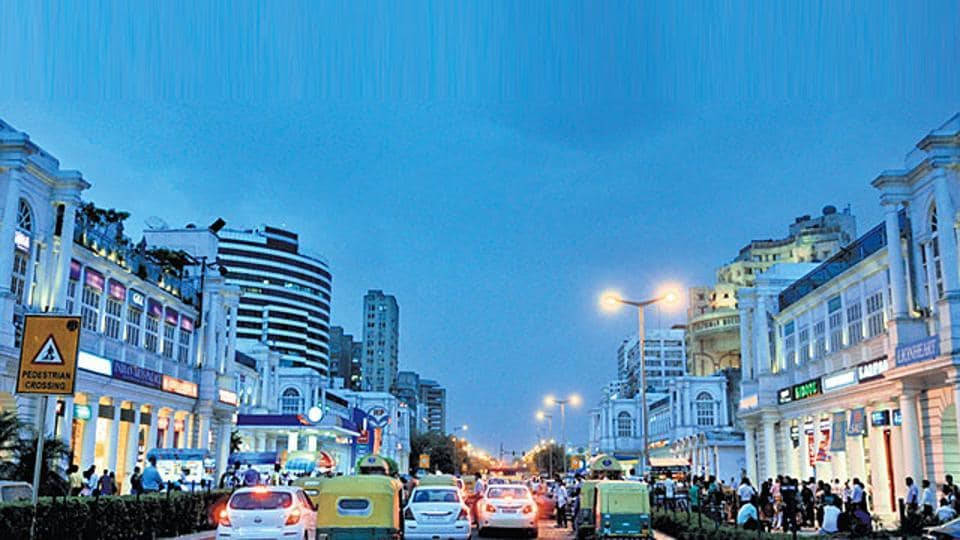 A view of Connaught Place in Delhi.