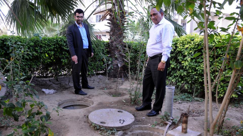 Park View Residency in Sector 3 has three fully operational rainwater harvesting pits.