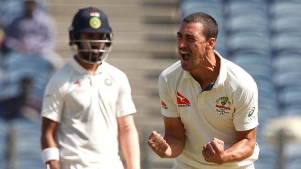 Mitchell Starc's participation in the four-Test series against India was ended after the Bangalore Test after he suffered a foot fracture and was forced to return home.