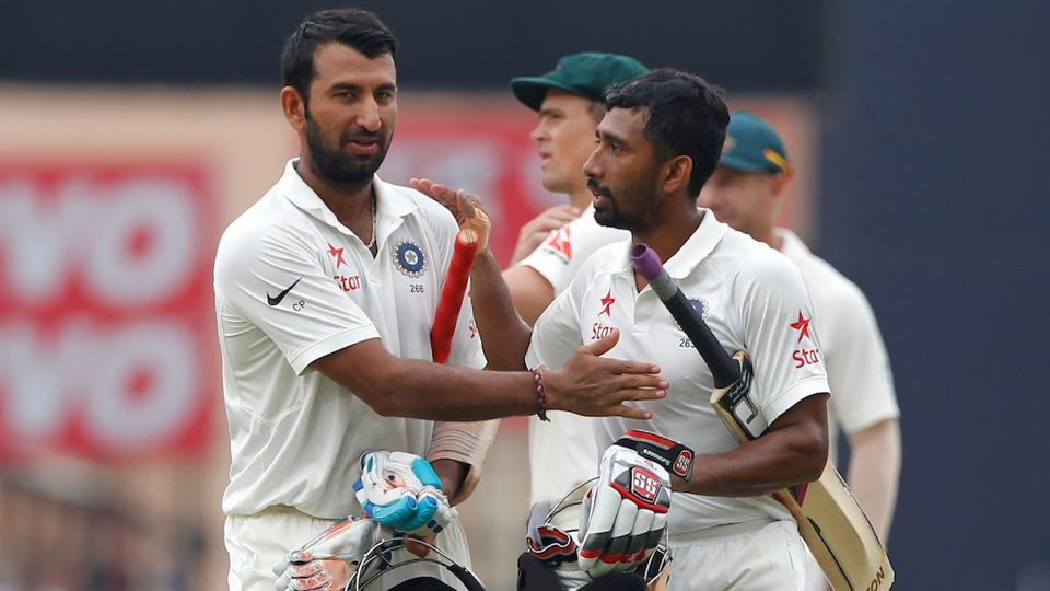 Cheteshwar Pujara and Wriddhiman Saha played brilliant knocks for India in the third Test match against Australia.
