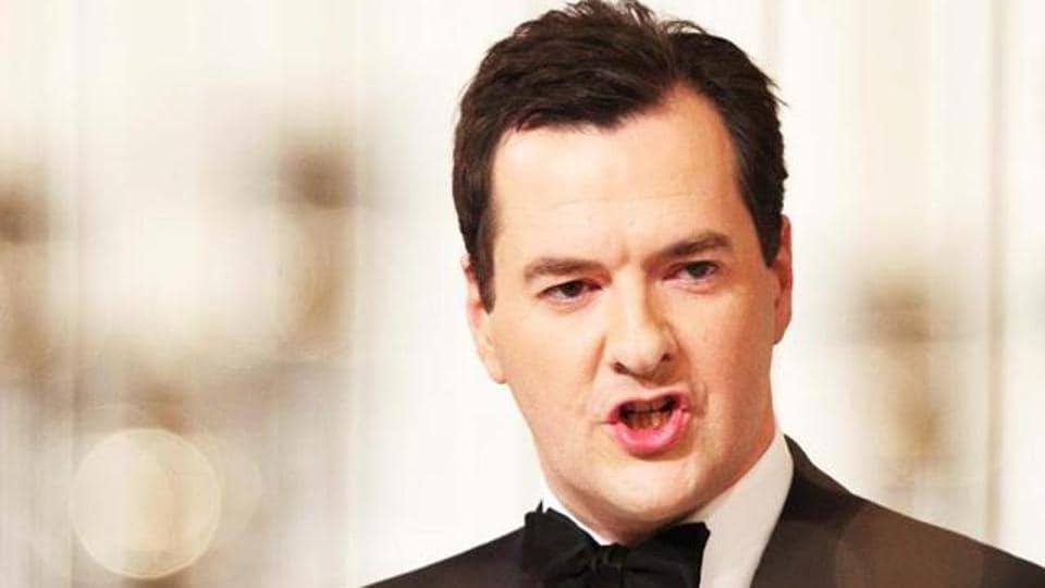 File phot of Britain's former chancellor of the exchequer George Osborne, who was recently named editor of the Evening Standard, London's powerful free tabloid.