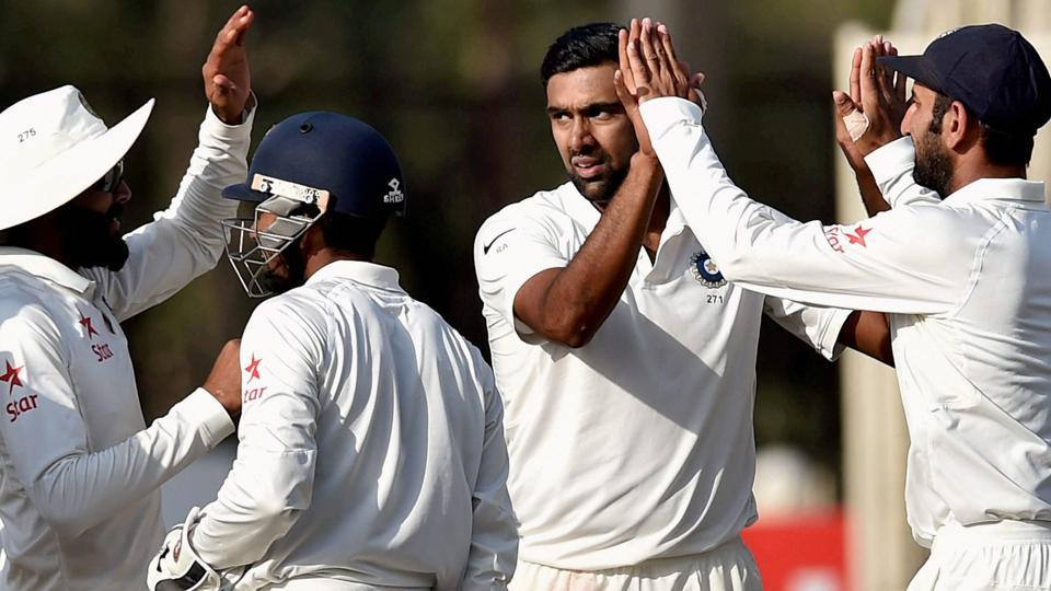 Ravichandran Ashwin took two wickets in the Ranchi Test while Nathan Lyon could only manage one.