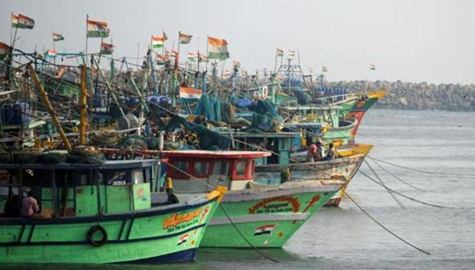 The Indian fishermen were apprehended near Delft Island.