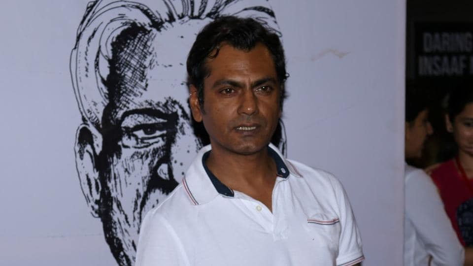 Nawazuddin Siddique during the second edition of the Colours Khidkiyaan Theater Festival in Mumbai.