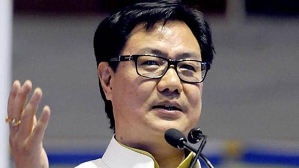 Minister of state for home affairs, Kiren Rijiju.