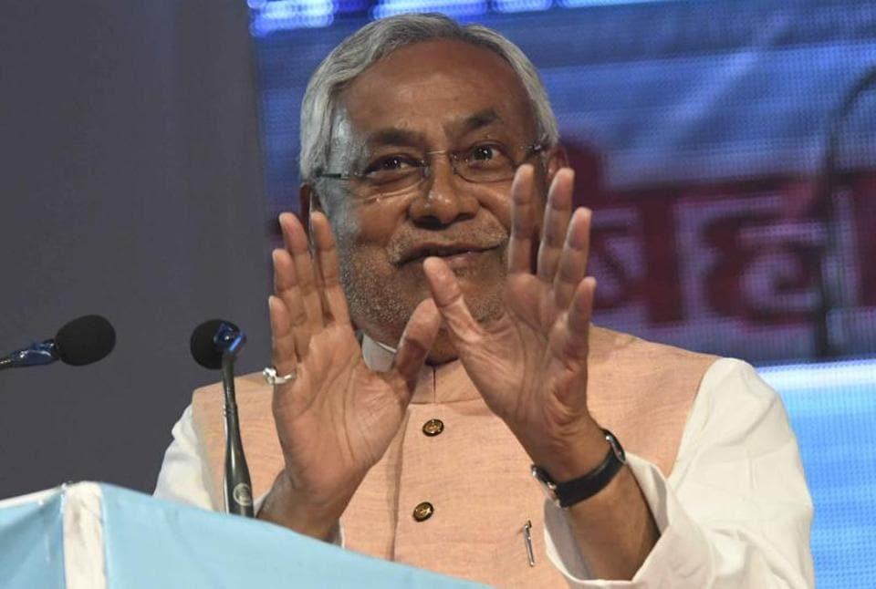 Bihar chief minister Nitish Kumar at the Bihar entrepreneurship summit in Patna.