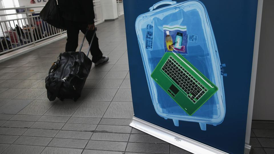 The US has banned electronic devices such as laptops on board flights from 10 Muslim-majority nations to American cities.