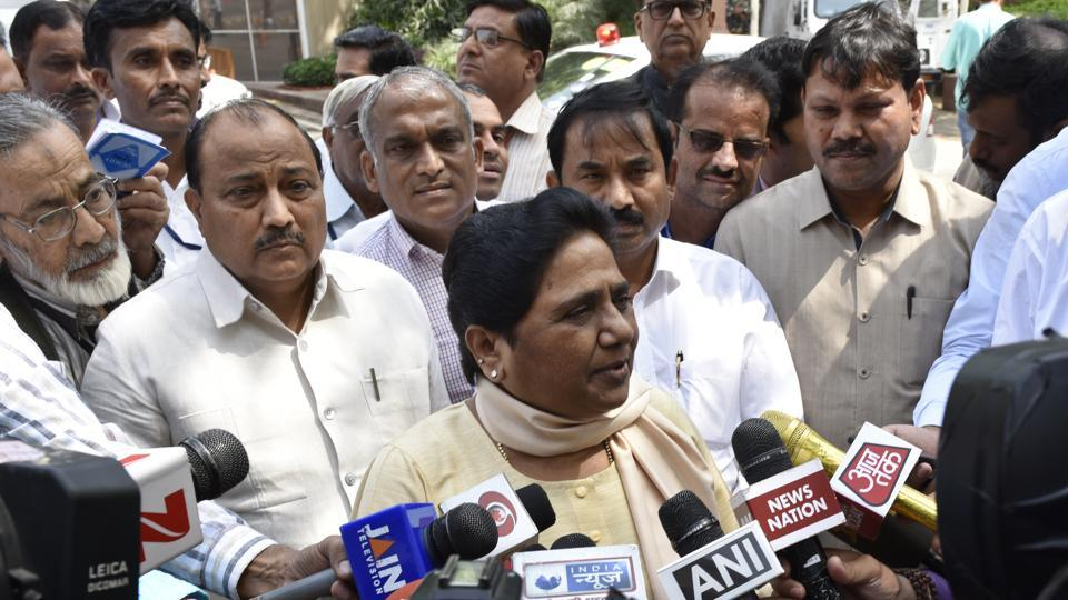 BSP supremo Mayawati at Parliament during the second leg of Budget Session in New Delhi on Monday.