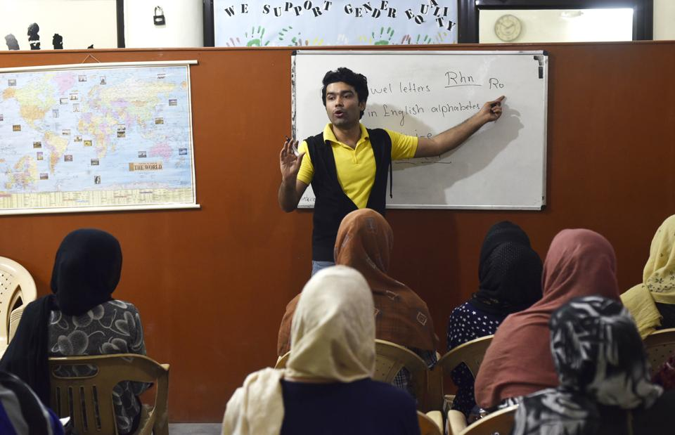 "Abdul Wali Ahadi, 22, is a refugee from Afghanistan. Ahadi says one of the biggest problems of young refugees is lack of education and job opportunities.""No university was willing to give me admission because I did not have documents,"" he says.  (Vipin Kumar/HT PHOTO)"