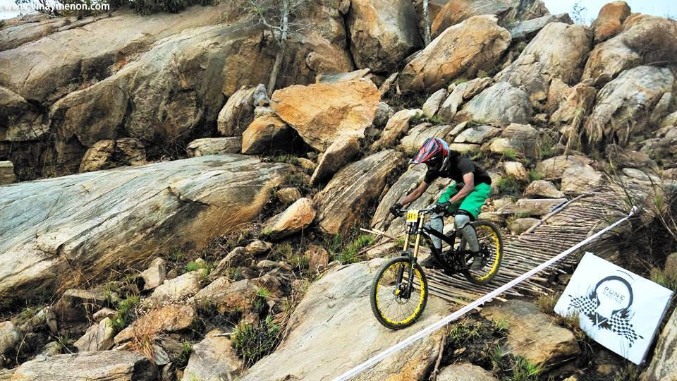 Mountain bike rider Vinay Menon focuses on safety gear to avoid accidents.