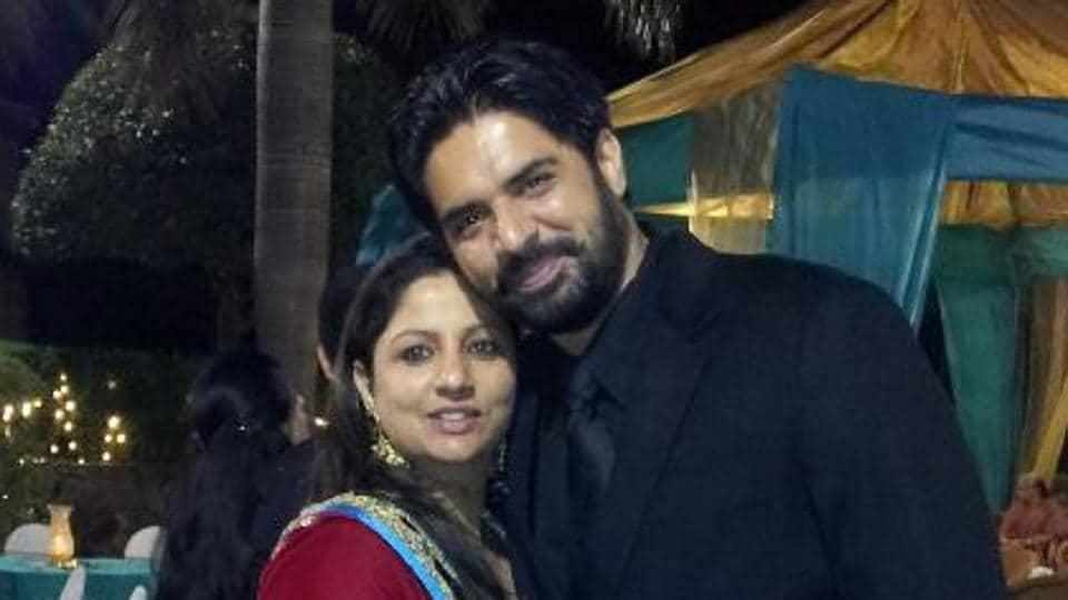 The couple's photograph on Ekam's Facebook account.