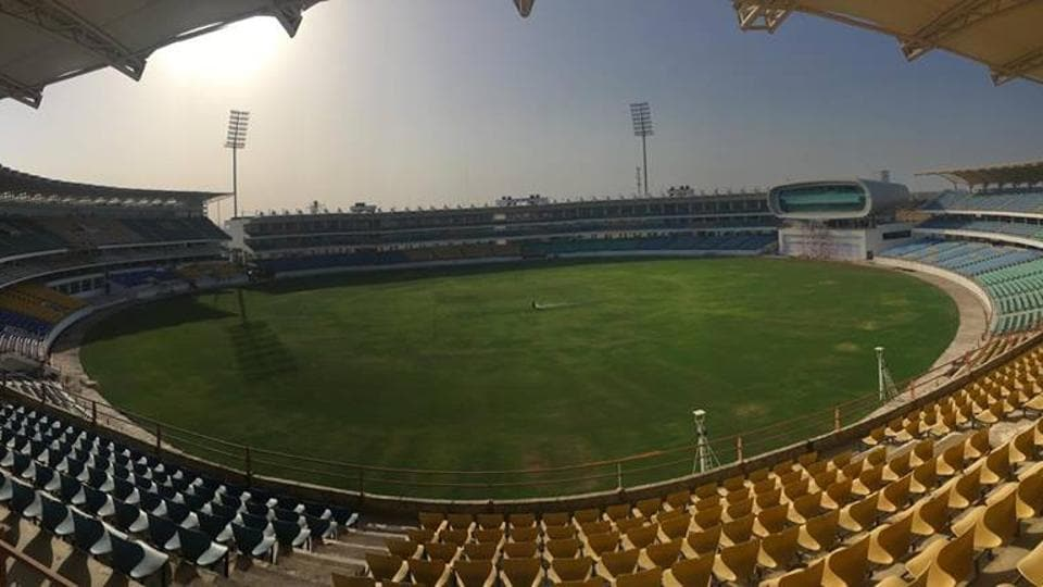 Saurashtra Cricket Association has a bank balance in excess of Rs. 250 crore. (File photo of SCA Stadium, Rajkot)