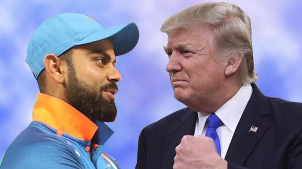 India vs Australias,Virat Kohli,Donald Trump