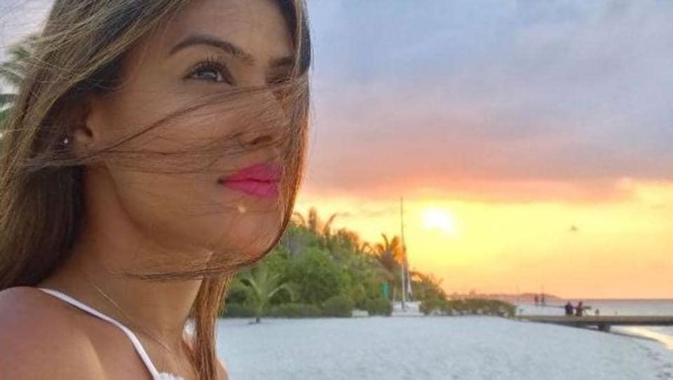 Nia Sharma is enjoying a super holiday in Maldives.