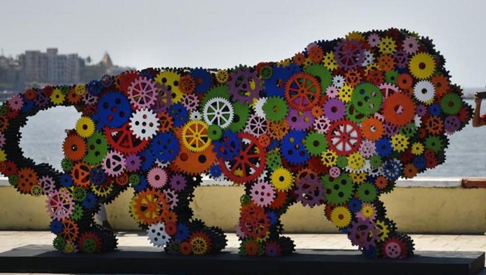 Make in India,Make in India logo,Make in India lion