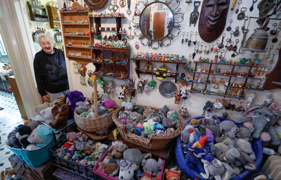 The 86-year-old's collection spread throughout her entire home over the course of 65 years. (Yves Herman / Reuters)