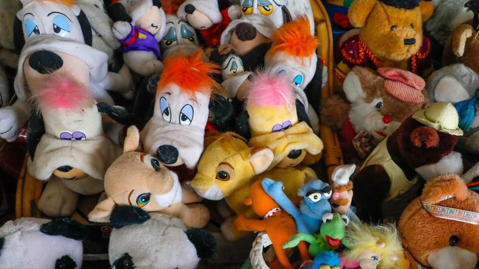 A part of the 20,000 stuffed and plastic toys collection belonging to Belgian Catherine Bloemen. (Yves Herman / Reuters)