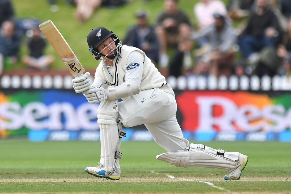 New Zealand's BJ Watling bats during day three of the second Test cricket match between New Zealand and South Africa at the Basin Reserve in Wellington.