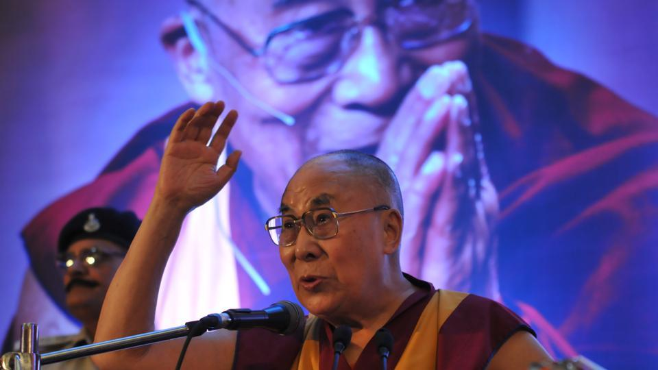 Tibetan spiritual leader Dalai Lama Tenzin Gyatso delivering a lecture on the Art of Happiness , in Bhopal,  March 19.  The Dalai Lama's growing international stature, including his Nobel prize, have been an extraordinary challenge for Beijing.