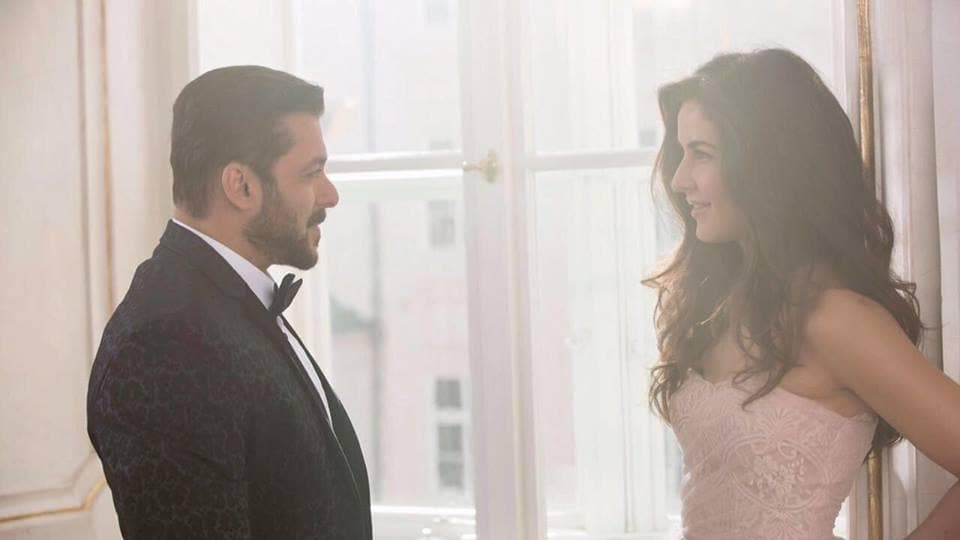 Both Salman Khan and Katrina Kaif flaunt an elegant, formal look in picture