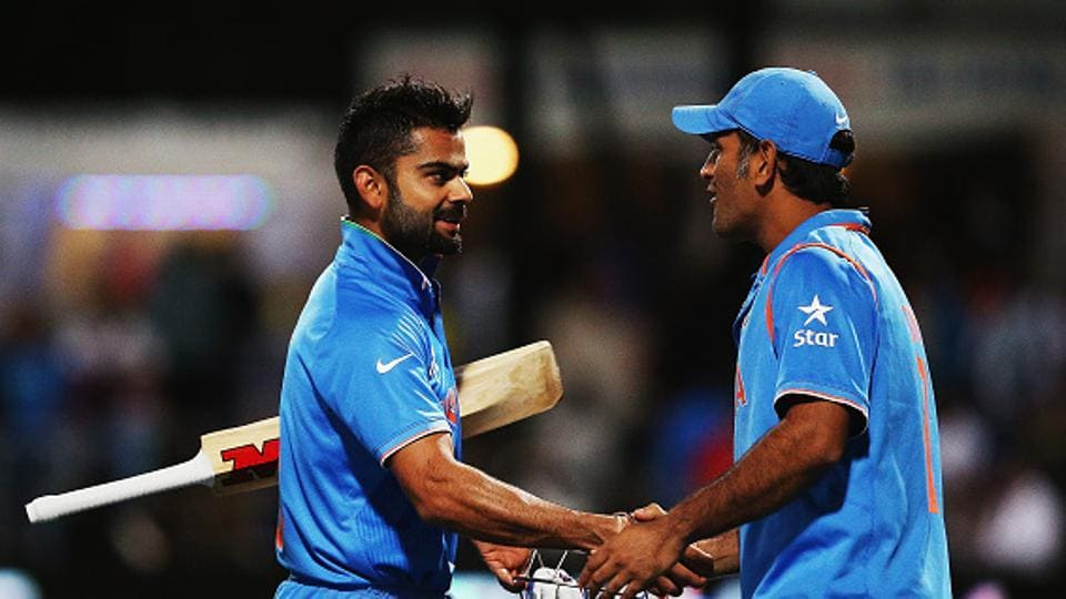 Current India cricket team skipper Virat Kohli (left) and former captain MS Dhoni, along with Cheteshwar Pujara, Ravindra Jadeja, Murali Vijay Ravichandran Ashwin and Ajinkya Rahane have been given Grade A contracts by the BCCI while Shikhar Dhawan, who enjoyed Grade B contract, has been demoted to Grade C. Suresh Raina lost his central contract with the Board.