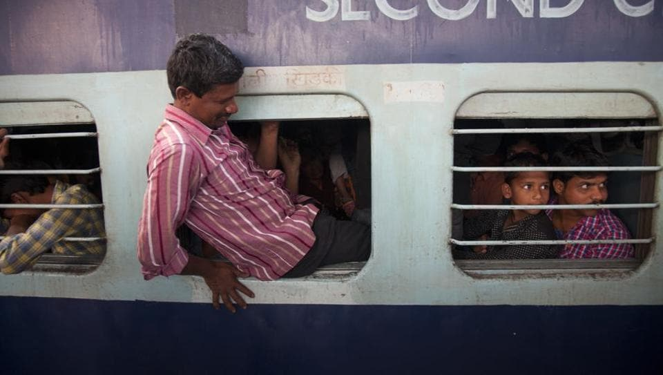 Image result for Indian passengers waiting for train
