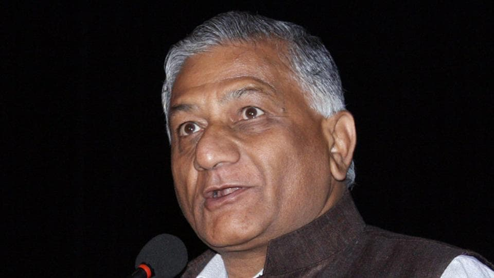 Union minister of state for external affairs General VK Singh (retd).