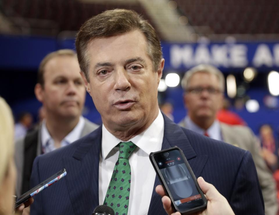 Paul Manafort worked as Trump's unpaid campaign chairman from March to August 2016.