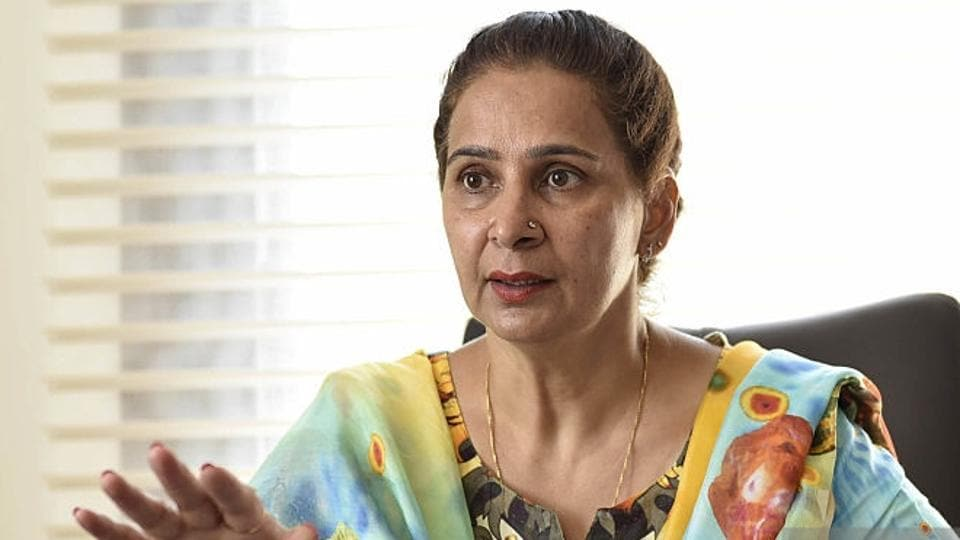 Navjot Singh Sidhu's wife Navjot Kaur Sidhu, a former MLA who opted out of her Amritsar East seat for him, courted a controversy by attending an official meeting of the local bodies department.