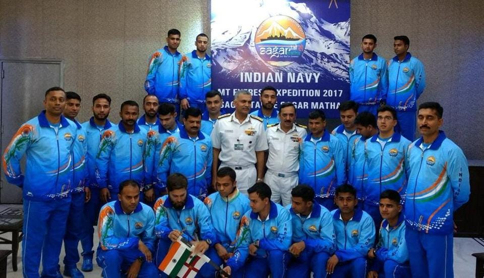 The 24-member team will follow in the footsteps of an Indian Navy expedition that reached the summit 13 years ago in 2004.