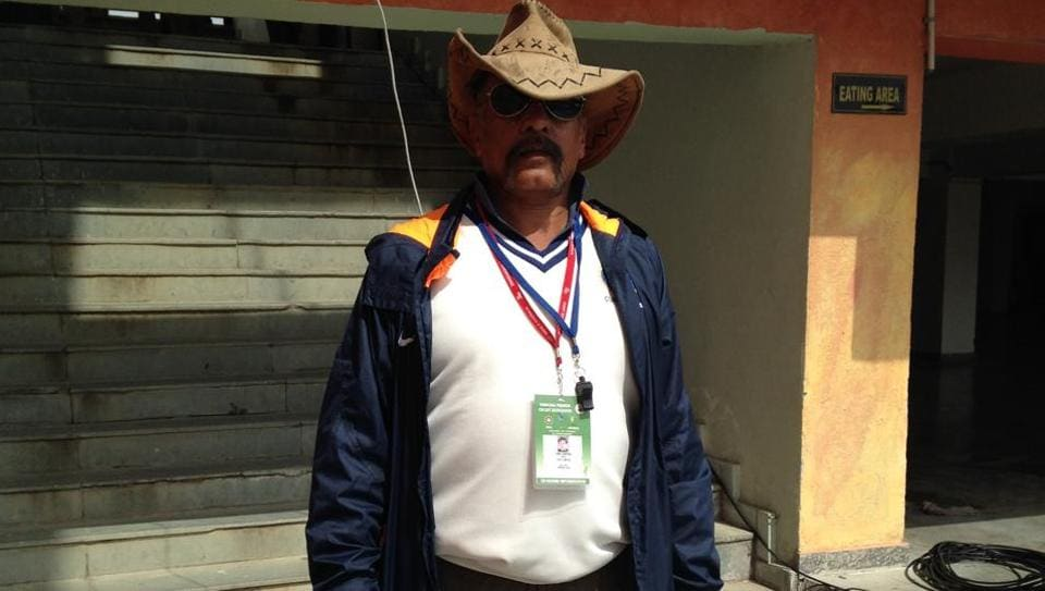 Sunil Chauhan is the curator of the HPCA Stadium pitch that host the India vs Australia Dharamsala Test.