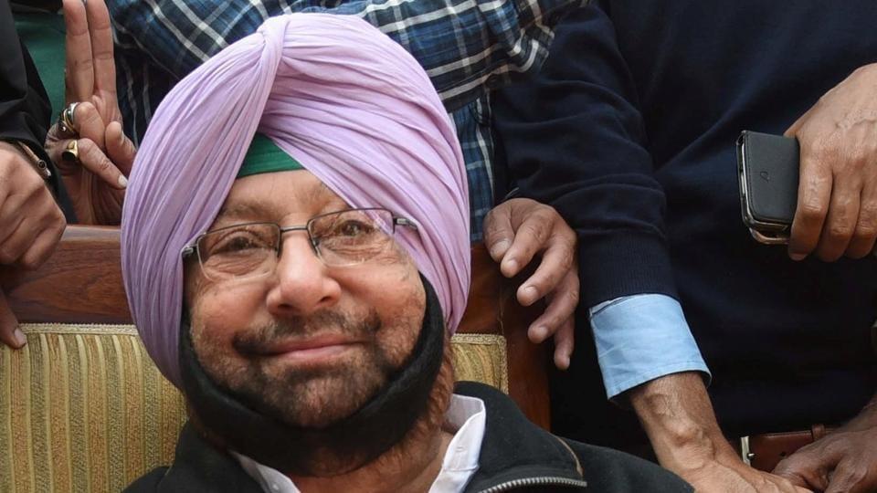 Punjab chief minister Capt Amarinder Singh