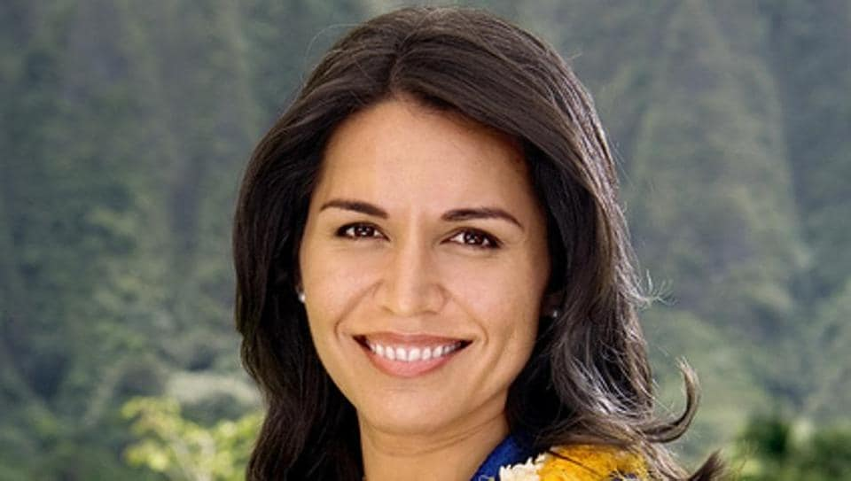 File photo of Tulsi Gabbard, the first Hindu member of the US Congress  who was recently elected co-chair of the India Caucus of the House of Representatives.