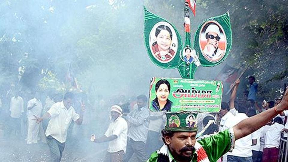 This is the latest episode in a bruising fight within the AIADMK for the legacy of Jayalalithaa – who died in December.