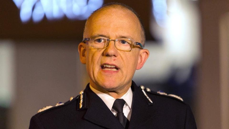 The British Metropolitan Police's (aka Scotland Yard)acting deputy commissioner, and head of counter terrorism, Mark Rowley addresses the media in central London on Wednesday.