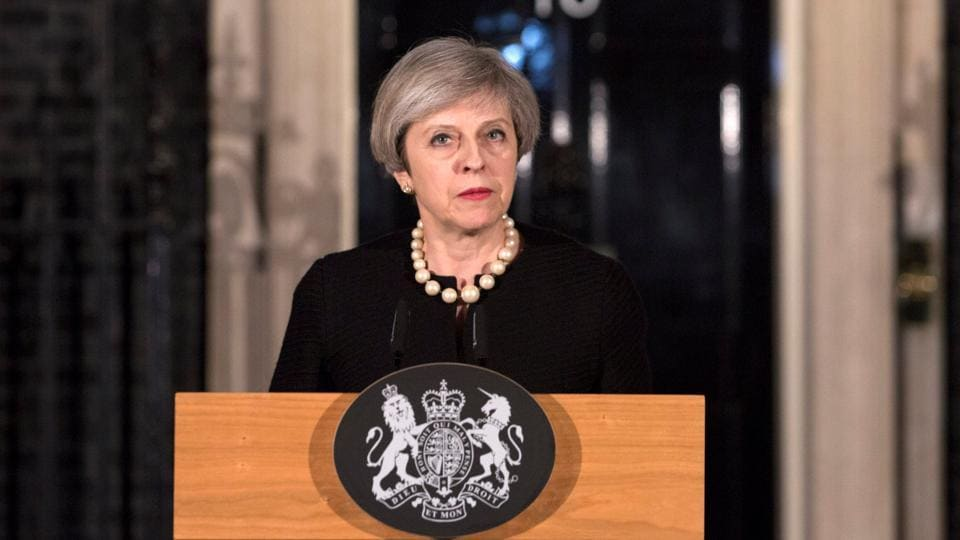 After being briefed about the attack in an emergency meeting, UK PM Theresa May chose strong words to condemn the attack.