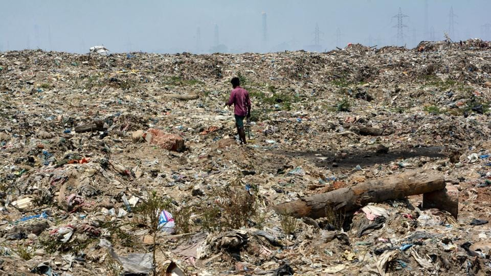 Garbage dump yard at RK Nagar area of Chennai.  The RKNagar assembly constituency is set for a bypoll on April 12 following the death of former TamilNadu chief minister JJayalalithaa who represented it.