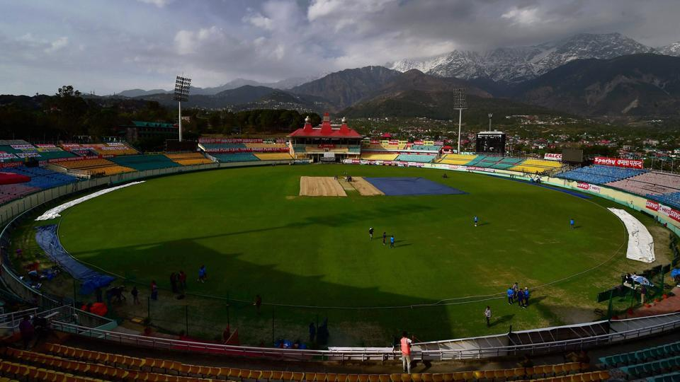 A view of HPCA Stadium in Dharamsala ahead of the fourth India vs Australia Test. (PTI)