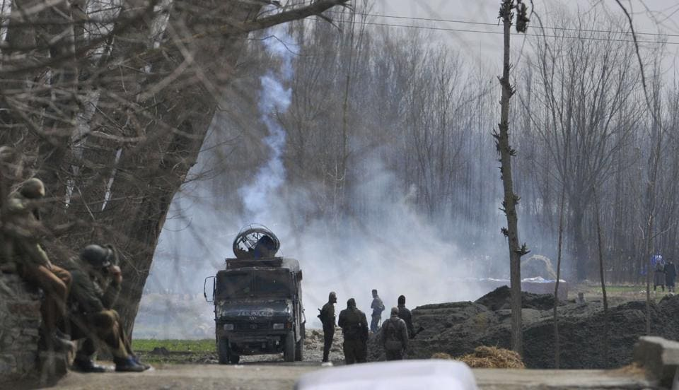 Militants opened fire on a police vehicle in Shopian district of Kashmir.