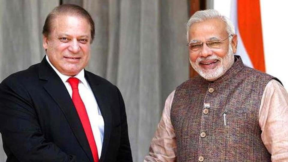 Prime Minister Narendra Modi greeted his Pakistan counterpart Nawaz Sharif on