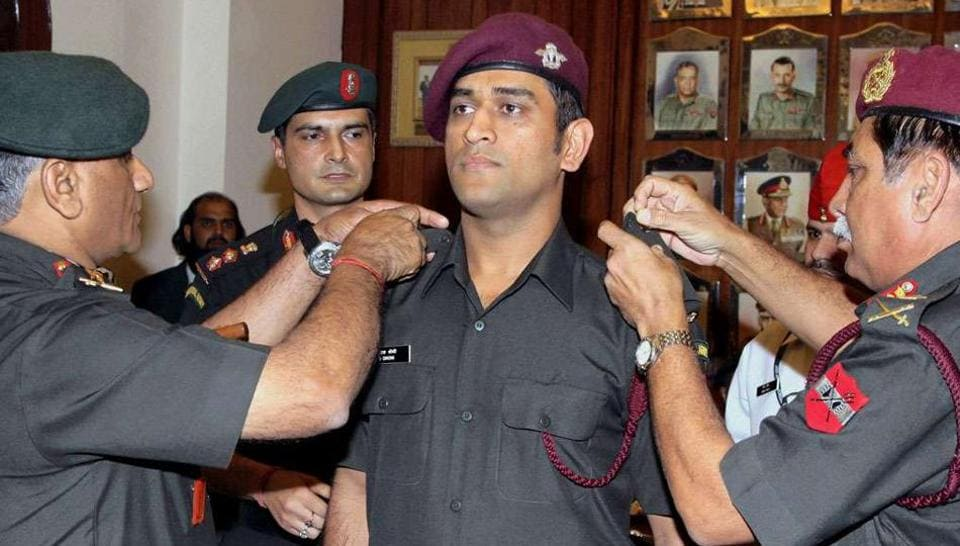 Mahendra Singh Dhoni is an honorary Lieutenant Colonel in the territorial army.