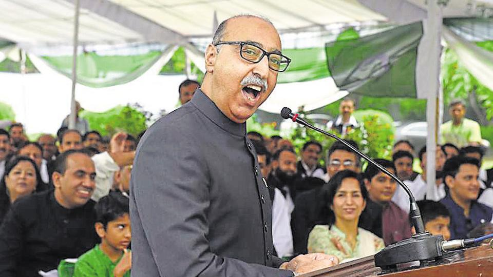 Pakistan high commissioner Abdul Basit speaks at an event to mark Pakistan's Independence Day at the high commission in New Delhi on August 14, 2016.