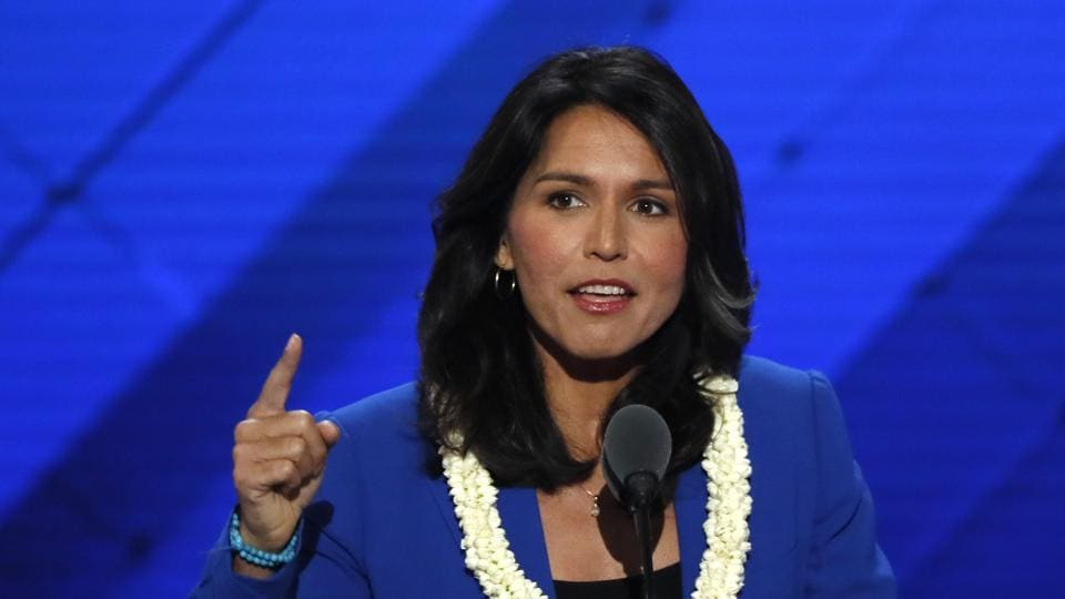 Gabbard, a major in the US Army National Guard who has done two tours of duty in the Middle East, gave her views on the India Caucus elections and her plans and views as the new co-chair.