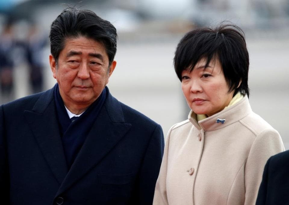 The head of the Moritomo Gakuen group, which runs the school, said Shinzo Abe's wife Akie handed him cash in an envelope on behalf of her husband in September 2015.