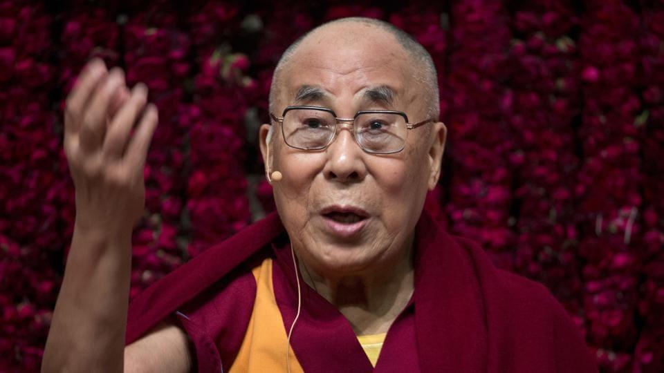 Tibetan spiritual leader the Dalai Lama at a public event in New Delhi recently.