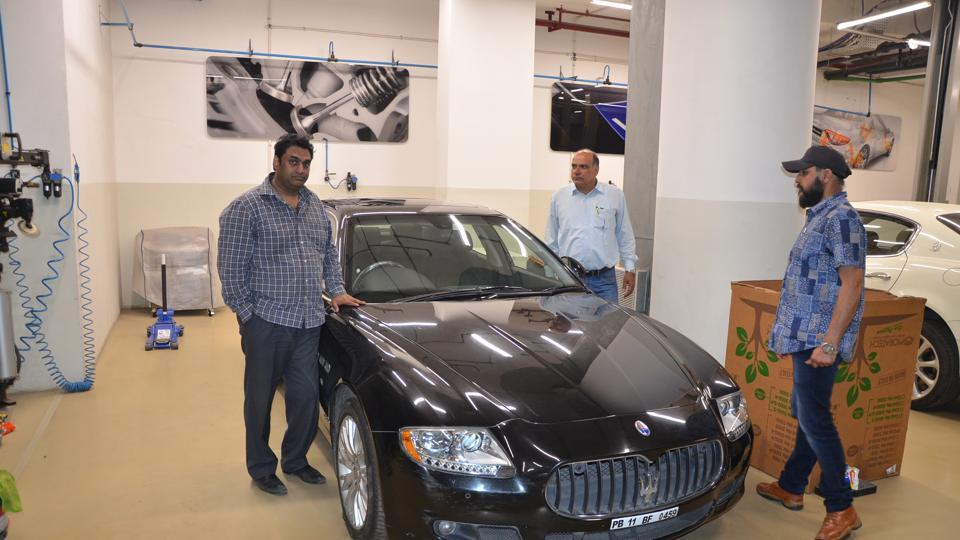The cops have recovered a Maserati car worth Rs3 crore from him.