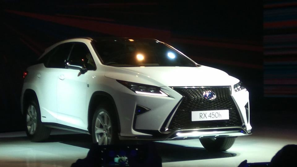 A hybrid luxury SUV, the Lexus RX450h is powered by a 3.5-litre, V6 petrol engine coupled to Toyota's Nickel metal hybrid system, the one that drives the Prius. (HT Photo / Gulshankumar Wankar)