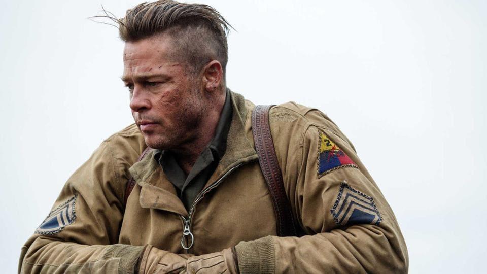 Brad Pitt in a still from Fury.