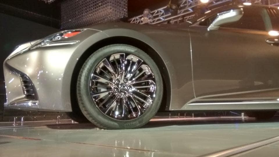 Toyota Motor Corp's luxury brand Lexus rolled its first wheels in India on Friday.  (HTPhoto / Gulshankumar Wankar)