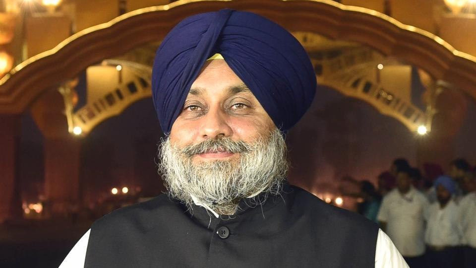 Former Punjab deputy chief minister Sukhbir Singh Badal.